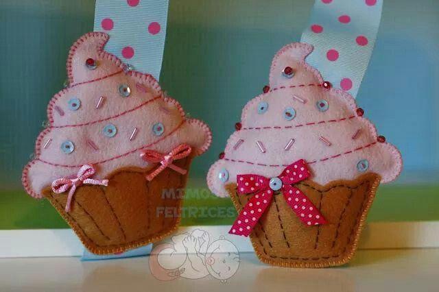 Cupcakes de fieltro