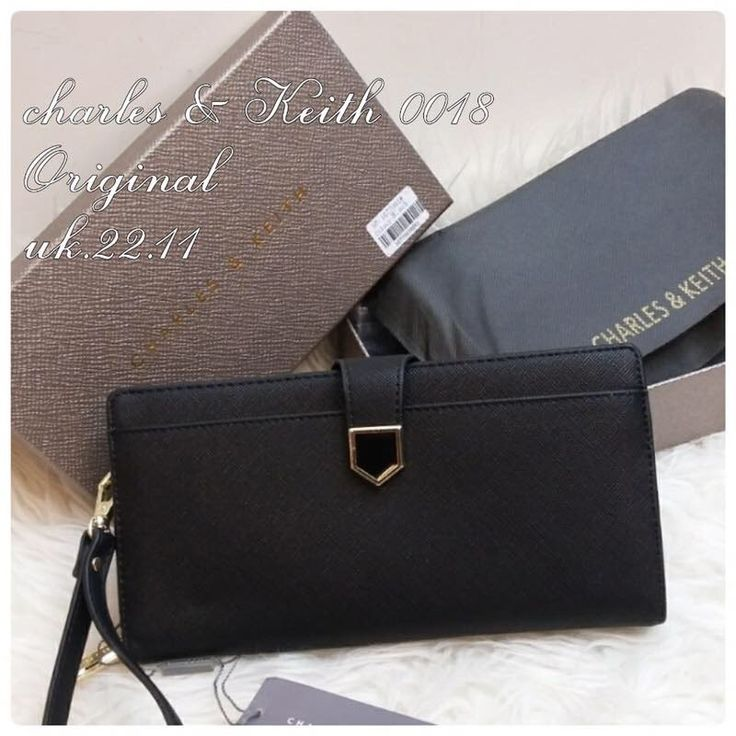Dompet Charles and Keith Ori 0018 Black 22x11 190rb