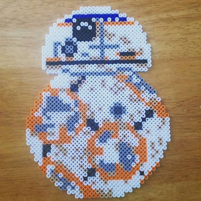 bb 8 star wars episode vii the force awakens hama perler beads by blackvelvetink