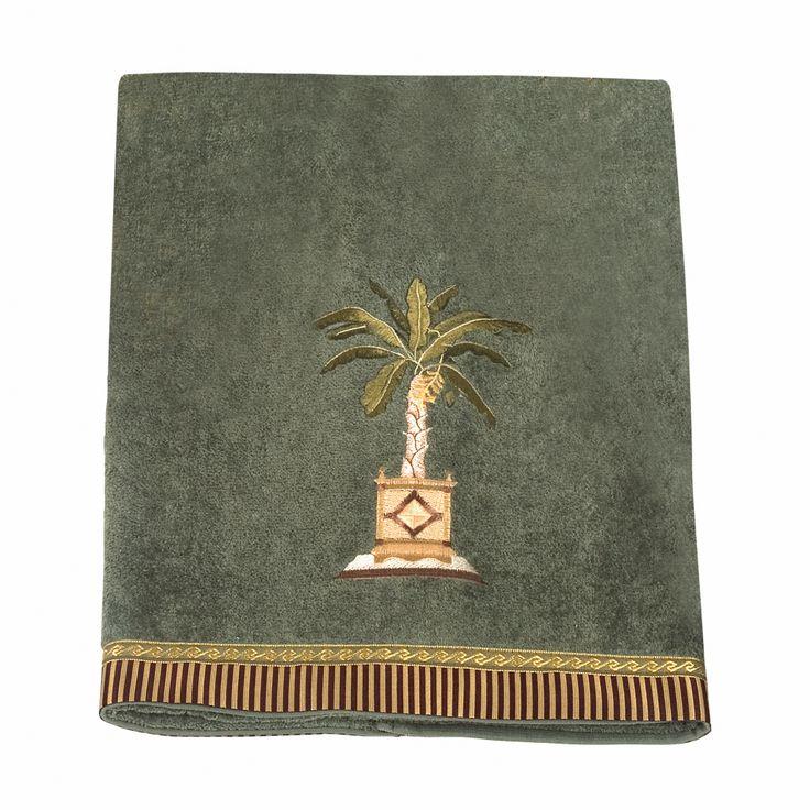 Banana Palm Bath Towels, Set of 4
