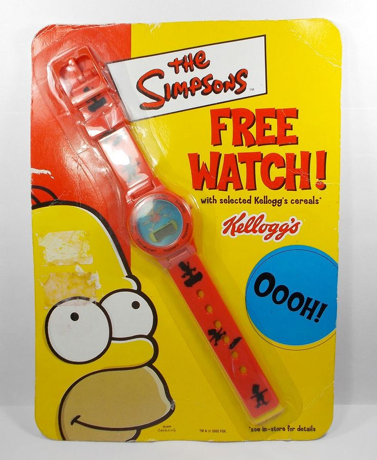 The Simpsons - Kellogg s Promotional Watch Matt Groening 2002 Fox