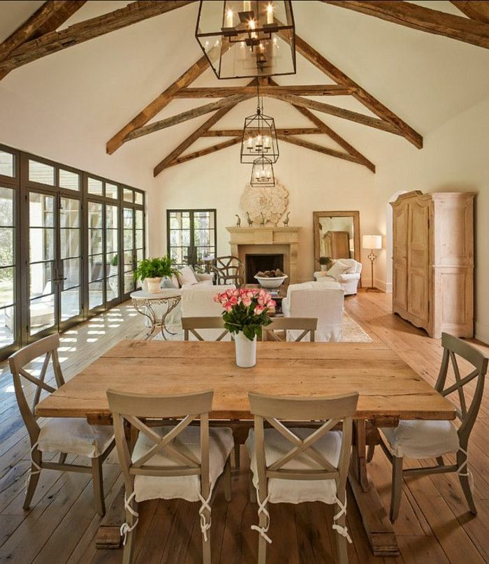 Salon style campagne chic stunning dco maison campagne - Salle a manger campagne ...