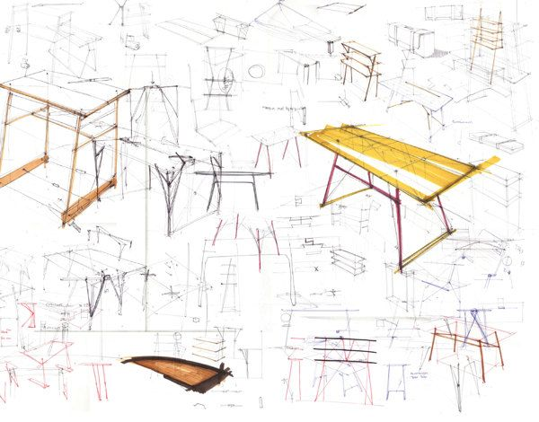 11 best design sketching table images on pinterest for Furniture design sketches