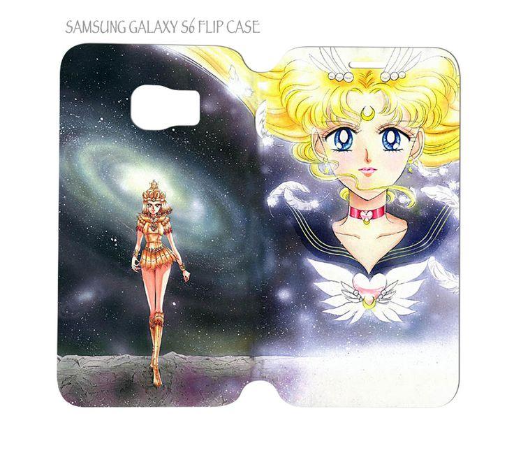 Samsung Galaxy S6 G920 Folio Flip Case Cover Sailor Moon and Sailor Galaxia #QuinnCafe