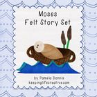 FREE! Moses Felt Story Set! Flannel boards are a great teaching tool, as well as being fun for a kiddo's creative play. I created this Bible story felt set as a fun way to tel...