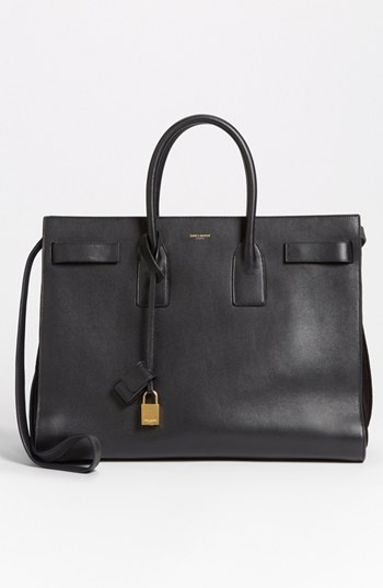 // Saint Laurent 'Sac de Jour' Leather Tote Noir.. got this bag in italy last summer for 30$ haha didnt even know