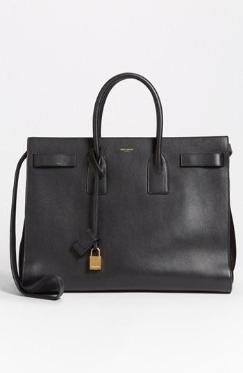 // Saint Laurent 'Sac de Jour' Leather Tote Noir