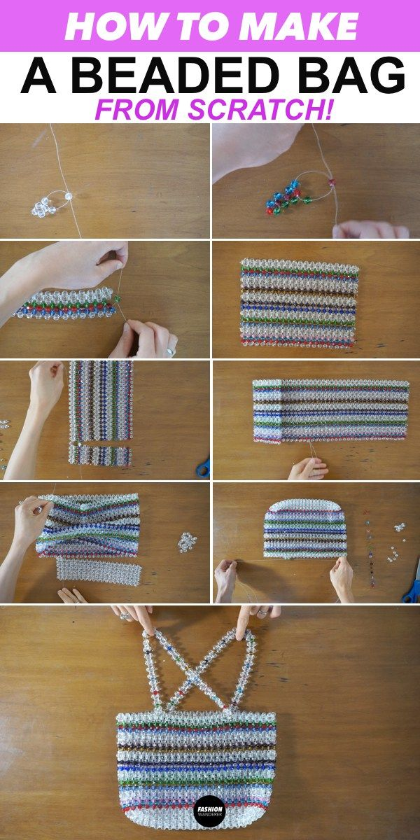 These step by step on how to make a beaded bag from scratch is THE BEST! With th…