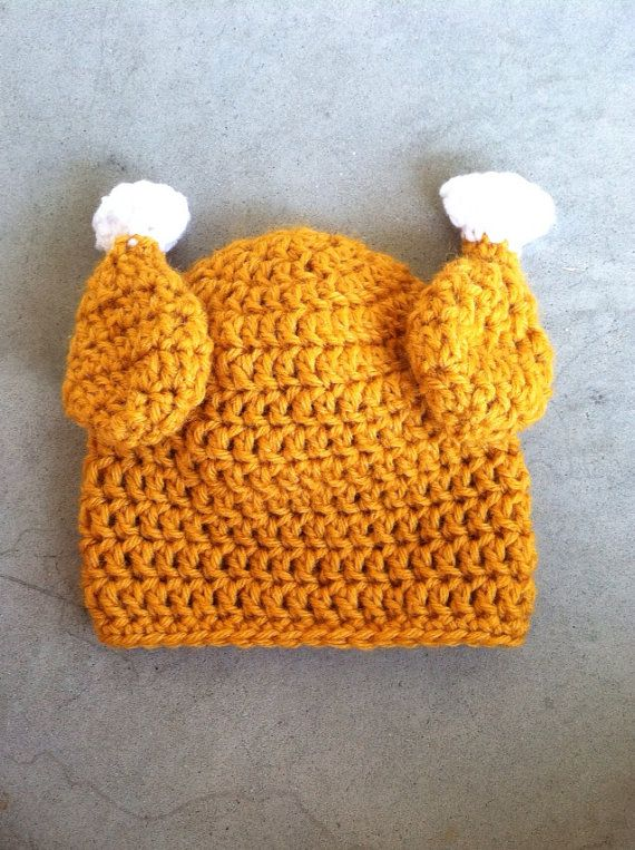 How To Make A Baby Turkey Hat Crochet
