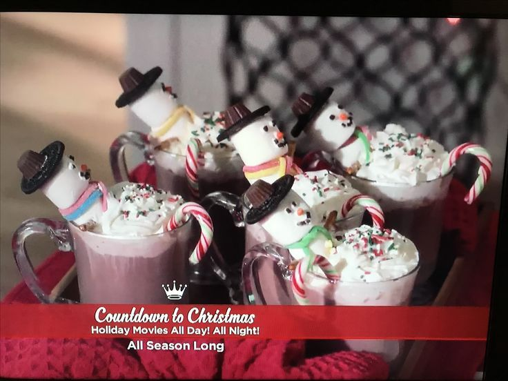 Cutest Marshmallow Snowman Hot Chocolates From Hallmark S A Wish For Christmas Hot Chocolate Marshmallows Hot Chocolate Party Christmas Treats