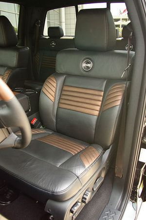 2008 Ford F-150 Harley-Davidson Truck - Supercharged Limited Edition Ford Truck: Front Captain's Chairs - 2008 Ford Harley-Davidson F-150