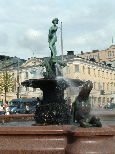 Helsinki, Finland. We were here summer of 2014. South harbor, lots of vendors selling their wares, lots of people.