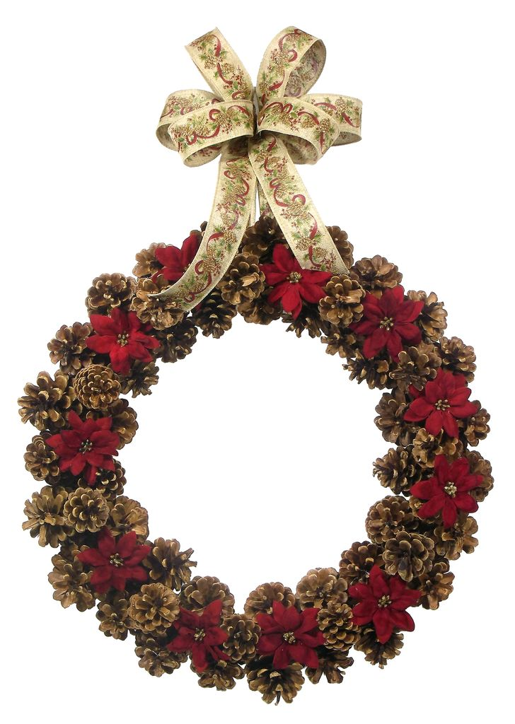 Tis the Season for Pine Cones, they are everywhere and can be used for all kinds of Holiday Decor. This rustic country wreath would make the perfect addition to your country decor. And what is a holid