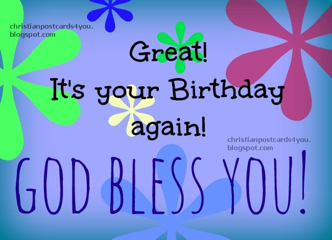 15 best Christian Birthday postcards images – Happy Birthday Post Cards