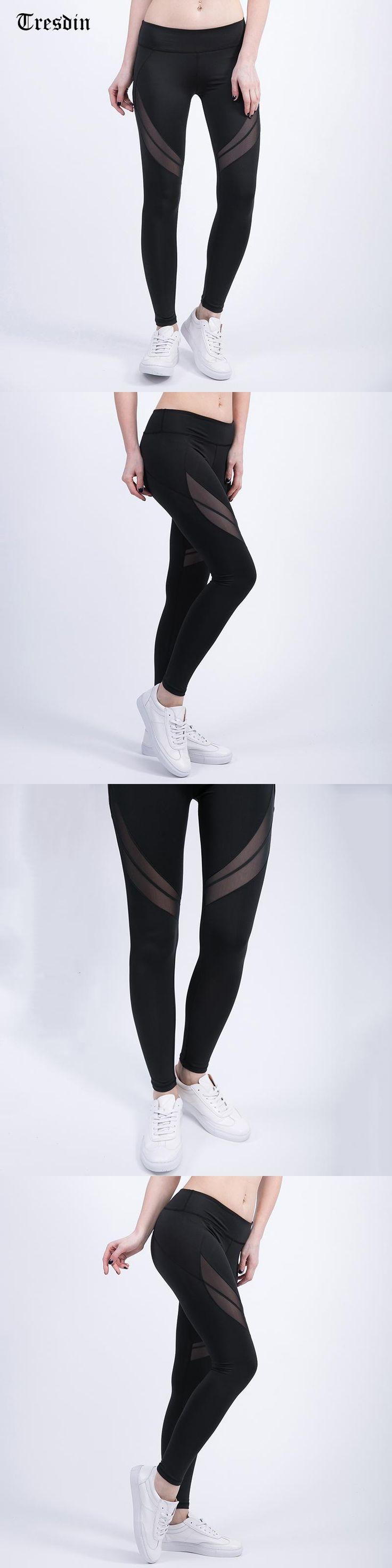 Tresdin Mesh Splice Women Leggings Athleisure Sexy Ladies Summer Long Trousers Elastic Women Clothes Black Workout Slim Pants