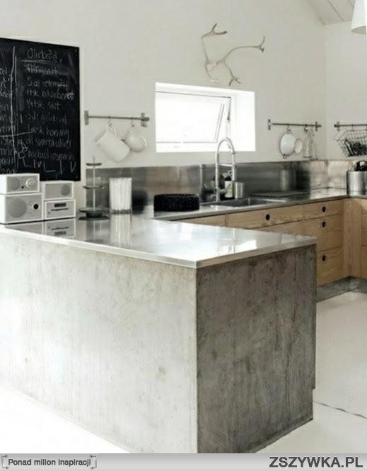 Rustic Wood Kitchen   White Floors   No Uppers   Chalkboard   Stainless  Steel Counter