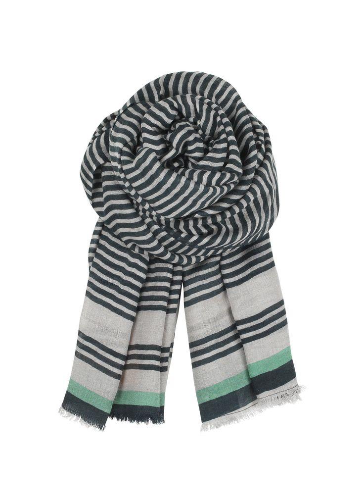 Wooly Stripes Scarf - Green | Nomadista.co. ethical fashion, fashion for good, responsible fashion, ecofashion, sustainable fashion