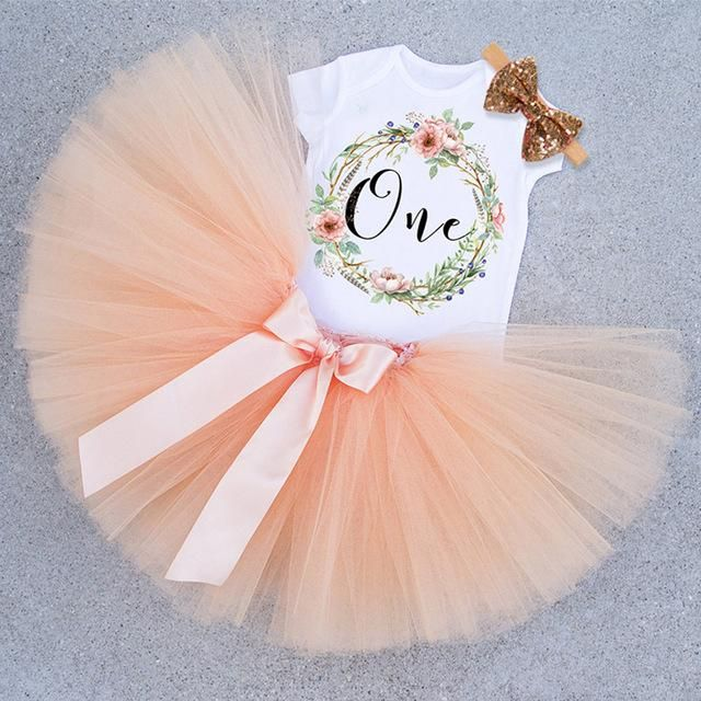 2-pc First Birthday Tutu Dresses for Toddlers