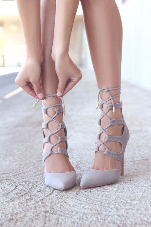 74ebcefdd88 Lace up shoes always makes you feel very stylish. In this heels, it's  actually very hard not to.