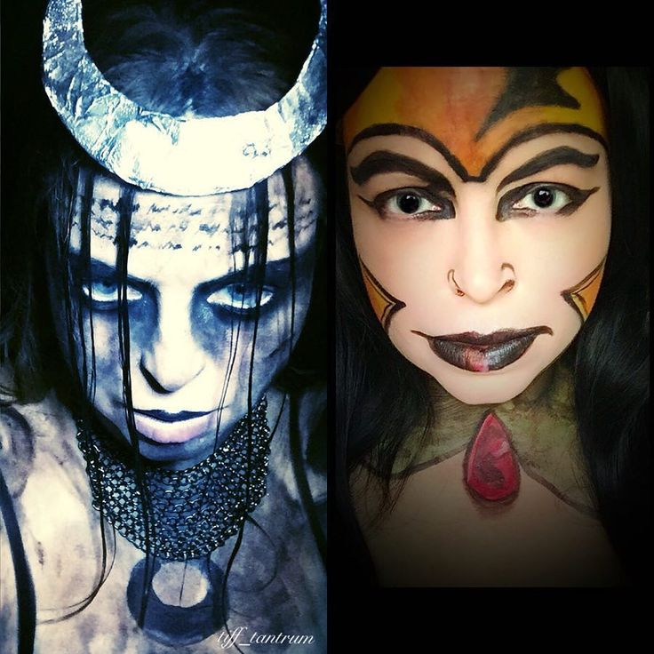Here is a side by side of my Enchantress looks. The left one is inspired by the @empiremagazine cover with Enchantress from the new Suicide Squad movie played by @caradelevingne The one on the right is inspired by the promotion art for @dccomics Shadowpact #1 by Bill Willingham. Product details in previous post. . #Enchantress #junemoone #suicidesquad #suicidesquadmovie #dccomics #comicart #sorceress #makeup #makeupart #makeupaddict #makeupjunkie #muashootingstar #fiercesociety #cosplay…