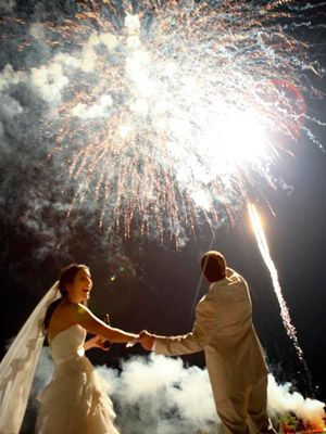 how awesome to have fireworks at the end of the reception! talk about a grand finale!