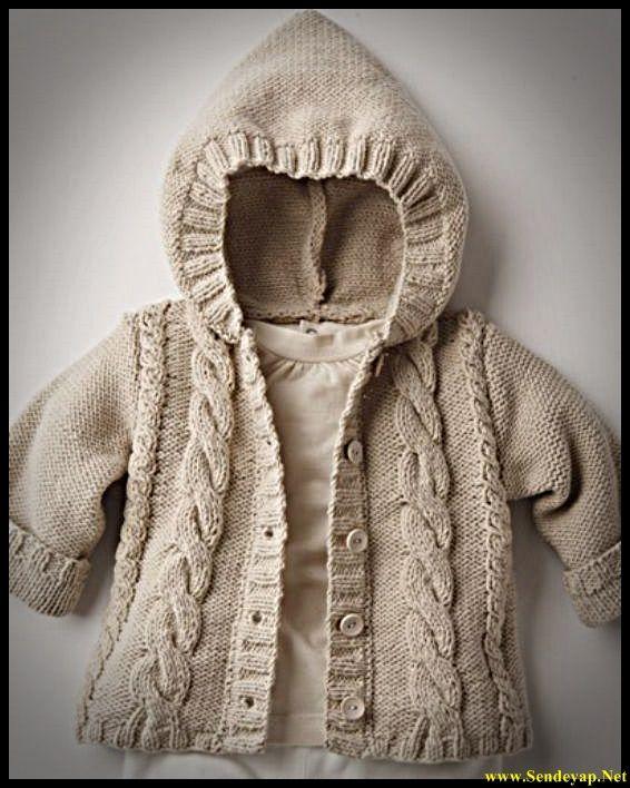 Детская кофта вязаная спицами - Теплые детские кофточки ниткой - вязаные вещи…
