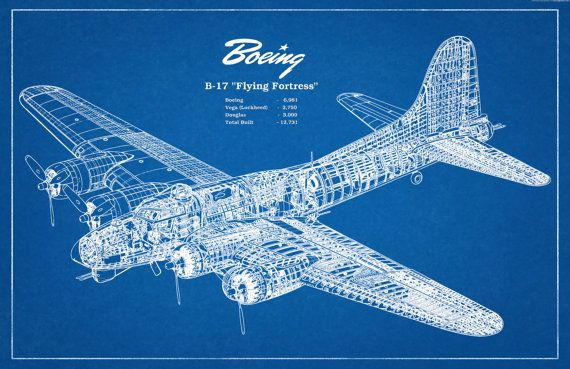 10 best technical images on pinterest technical drawings 1935 boeing b17 flying fortress wwii bomber airplane art print poster wall malvernweather Gallery