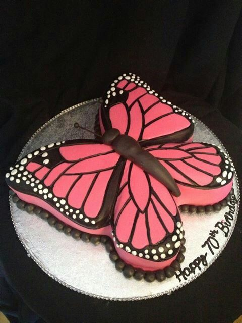 pretty butterfly cake for Abby's 6th birthday maybe?