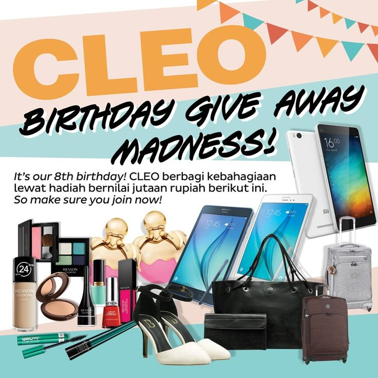CLEO BIRTHDAY GIVEAWAY MADNESS