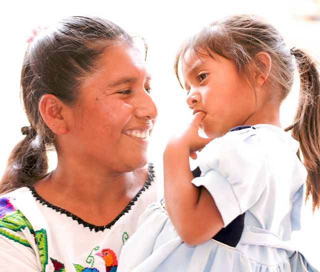 Healthy mother and child in Mexico.