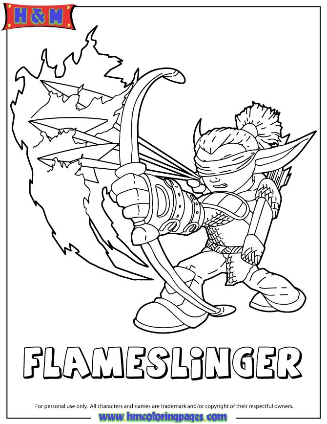 flameslinger coloring pages - photo#2