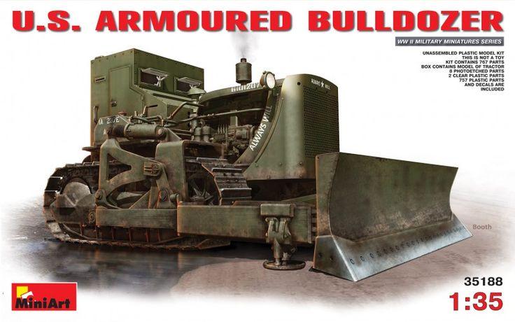 U.S.  ARMOURED  BULLDOZER - MiniArt 35188