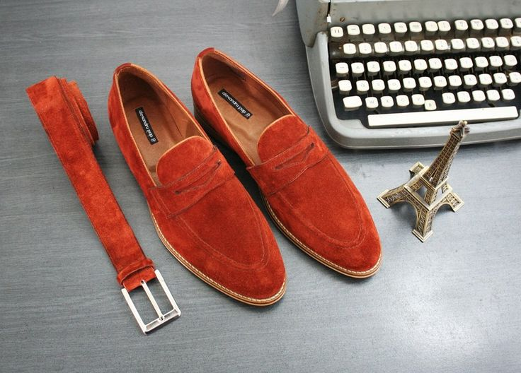 Penny Loafer Custom-Made Leather Sole and Belt by Alexandru Pop