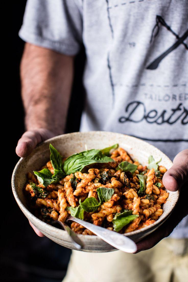 Simple Roasted Red Pepper Pasta | halfbakedharvest.com @hbharvest