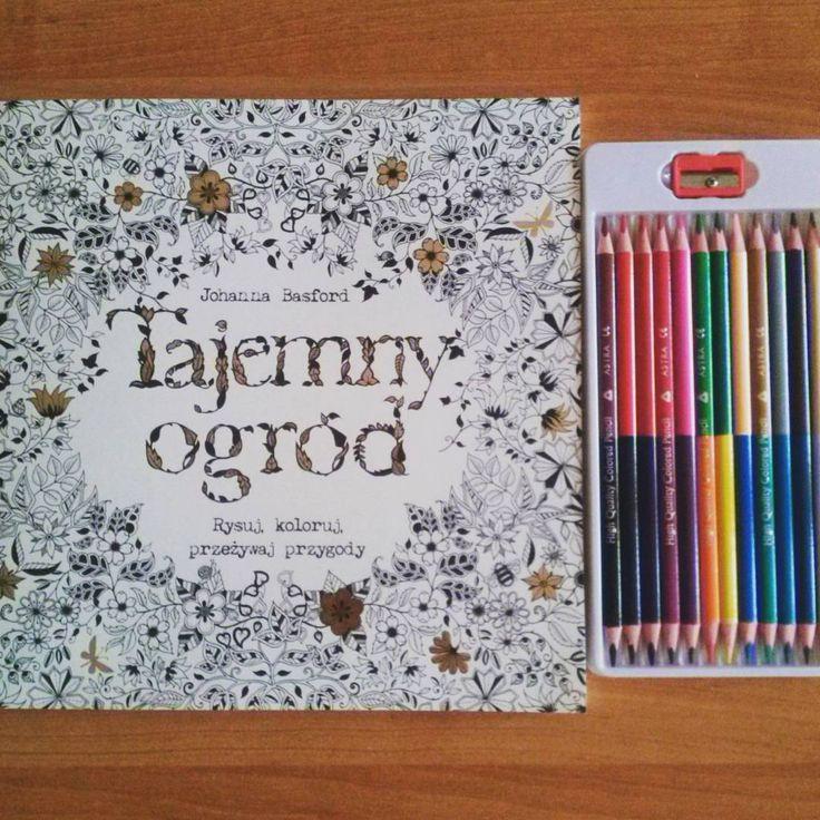 """""""Kolorujemy :D #tajemnyogród #kolorowanka #książka #kolorujemy #kwiaty #johannabasford #fun #colorful #colors #kreatywnie"""""""