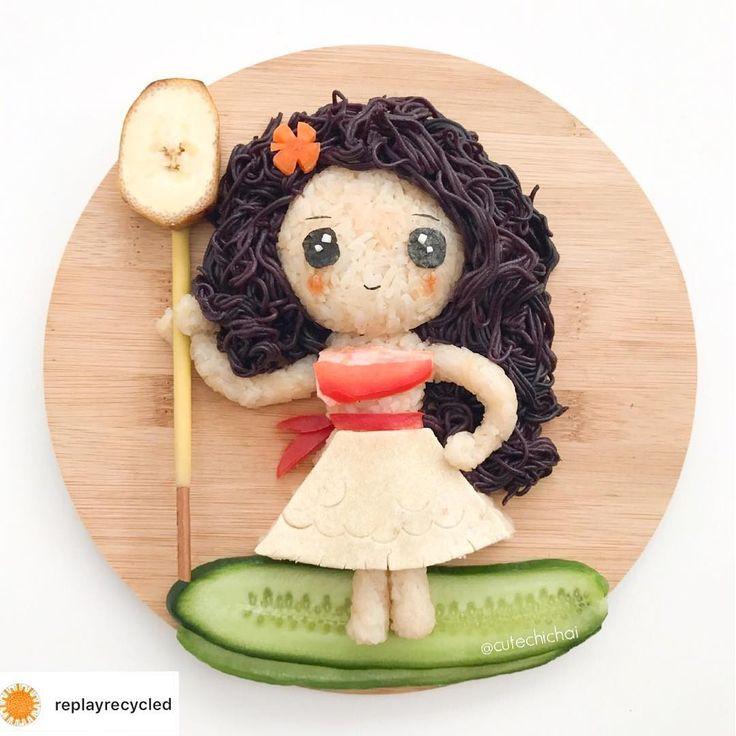 Moana food art by m i c h a e l a (@cutechichai)