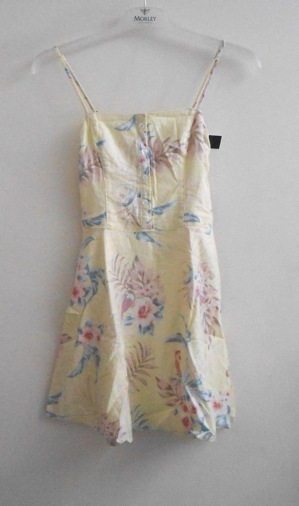 sells innovative design sale Hollister Yellow Floral Skater Dress Size XS SA079 EE 04 #fashion ...
