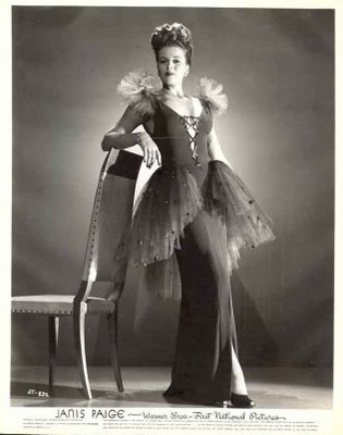 Janis Paige in 1940s full net glamour.