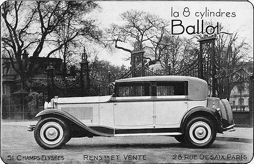 1930 Ballot 8-Cylinder Berline