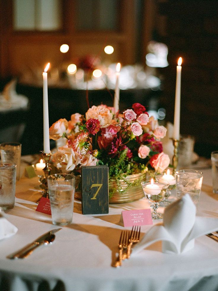 centerpieces for wedding receptions with candles%0A    Romantic Wedding Centerpieces With Candles