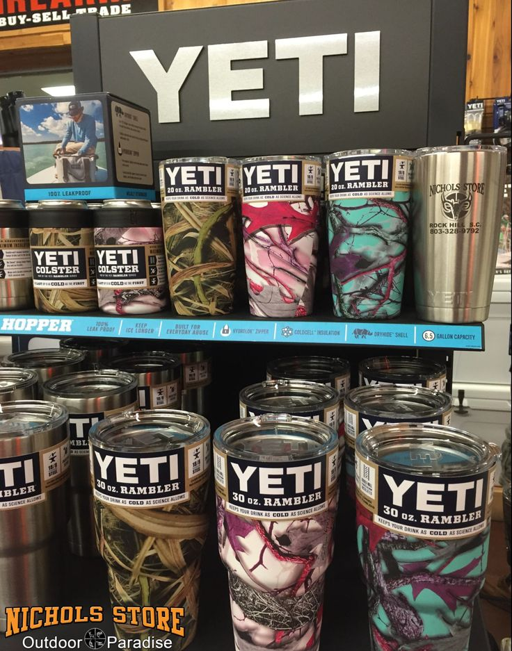 Yeti Engraved and Dipped 20oz and 30oz Stainless Ramblers and Yeti Stainless Colsters.  Limited Supply.... Call today 803.328.9792
