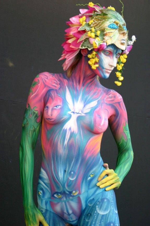 female-nude-body-painting-tumblr-excersizing-naked