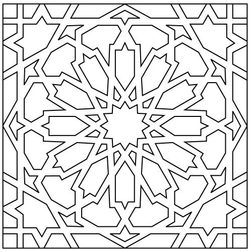 Moorish Knot | Patterns | Handpainted Cuerda Seca Recycled Ceramic Tile | Fireclay Tile