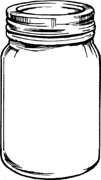 Free mason jar tempplates an ink drawing of a mason jar clipart                                                                                                                                                                                 More