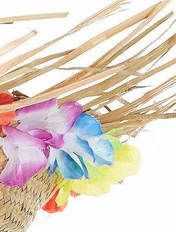 Cappello paglia fiori hawaiani                             beige Accessori   - Kiabi