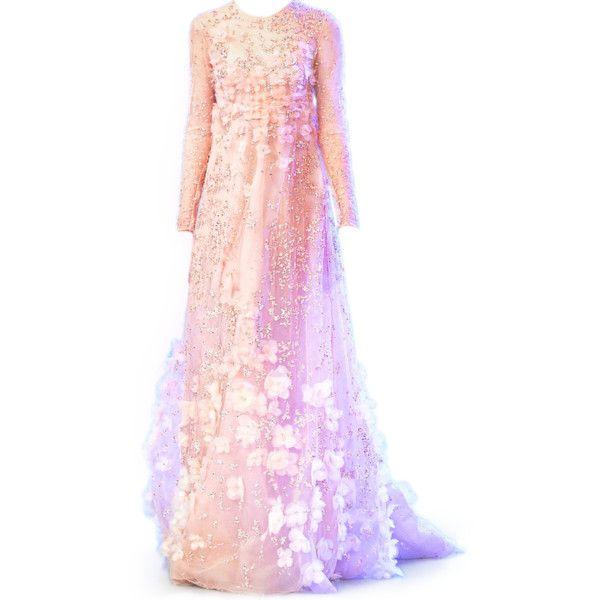 satinee.polyvore.com - Elie Saab SS 2014 ❤ liked on Polyvore featuring dresses, gowns, elie saab, satinee, pink gown, elie saab gowns, pink ball gown and pink dress