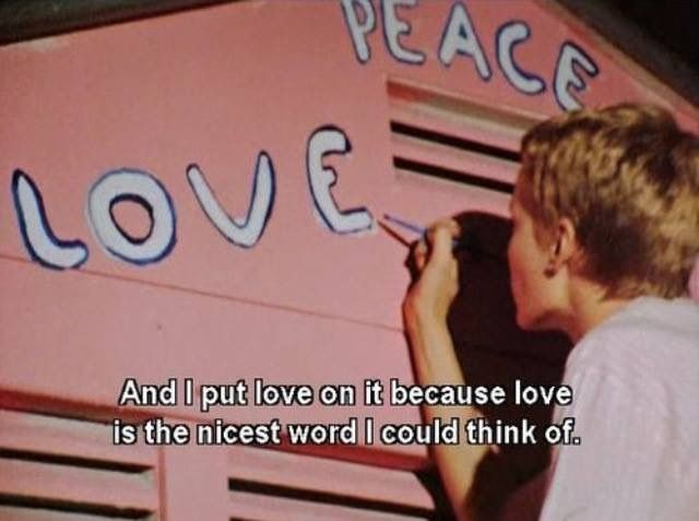 Love is the nicest word I've learned