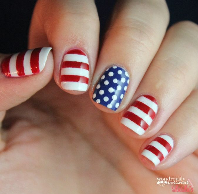 1190 best manicure images on pinterest blue nail designs blue cute 4th of july nail designs easy prinsesfo Images