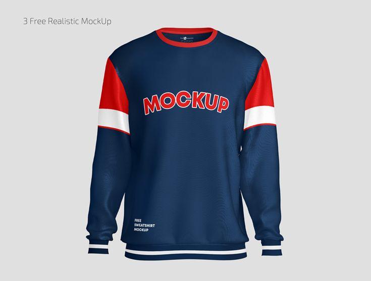3 Free Realistic Sweatshirt Mockups Psd Set Clothing Mockup Sweatshirts Mockup Free Psd