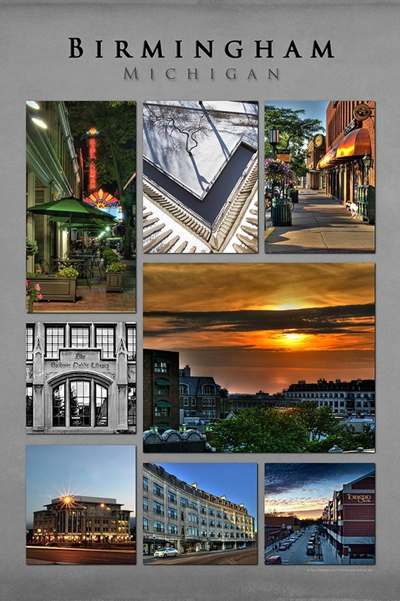 Birmingham Michigan Poster Collage by cityphotos on Etsy, $15.00